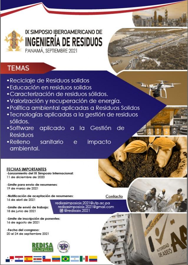 IX Simposio Iberoamericano en Ingeniería de Residuos