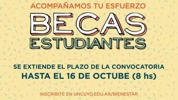 Se extiende la convocatoria a Becas para Estudiantes 2019