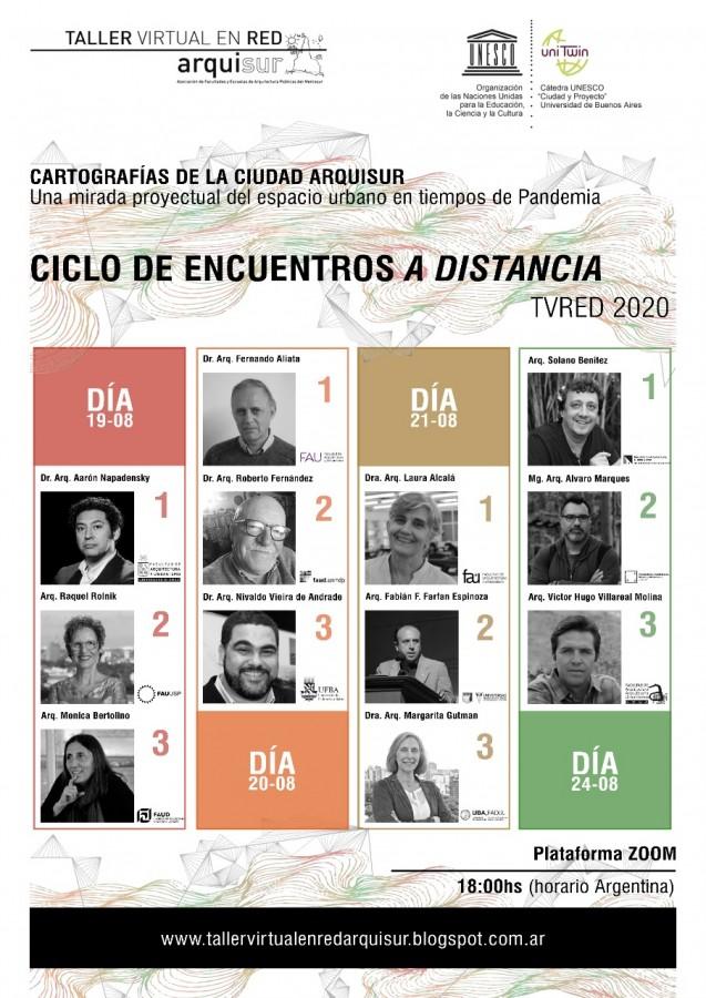 Ciclo de charlas del Taller Virtual Arquisur 2020