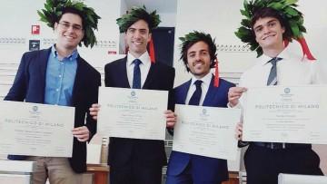 Cuatro de nuestros estudiantes obtuvieron el Doble Diploma en Italia
