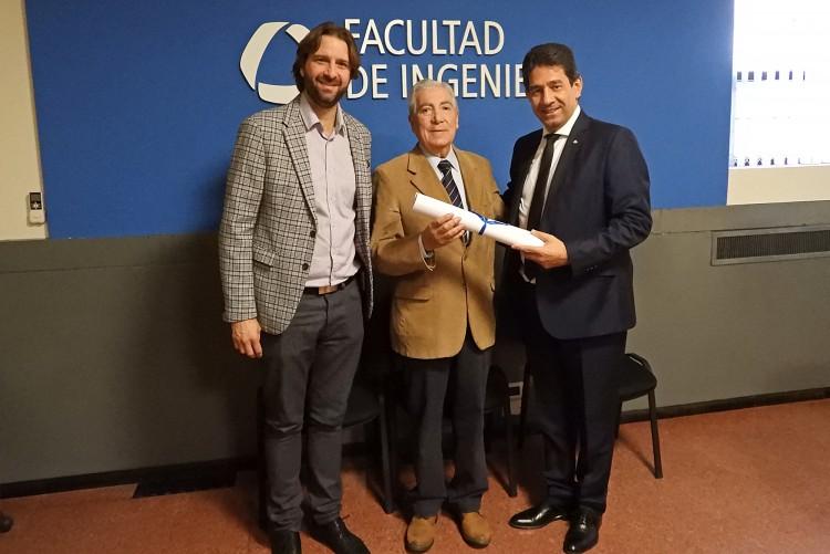 Jorge Félix Fernández fue reconocido como profesor emérito de la UNCuyo