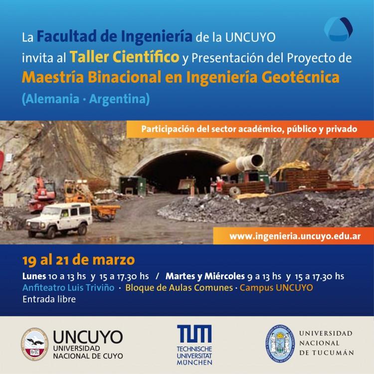 """Taller científico y presentación del proyecto """"Maestría Binacional en Ingeniería Geotécnica"""""""