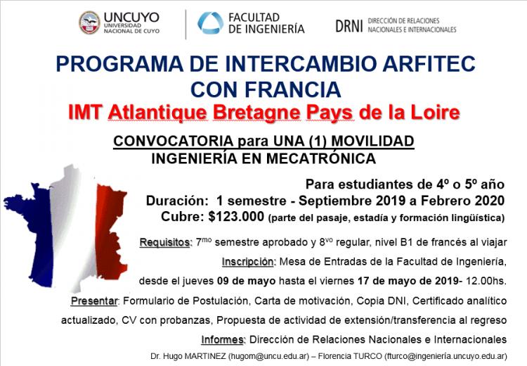 Programa de Intercambio con Francia para estudiantes de Mecatrónica