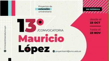 """Se encuentra abierta 13ra Convocatoria """"Proyectos Mauricio López"""""""