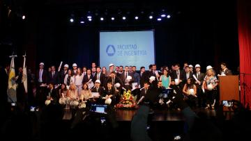 Recibieron su diploma 119 nuevos egresados de la Facultad de Ingeniería