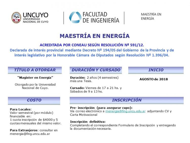 Maestría en Energía