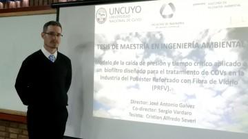 Cristian Severi defendió su tesis de la Maestría en Ingeniería Ambiental