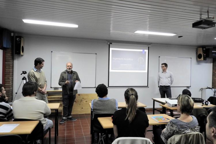 Se trató la acústica arquitectónica en salas en una charla