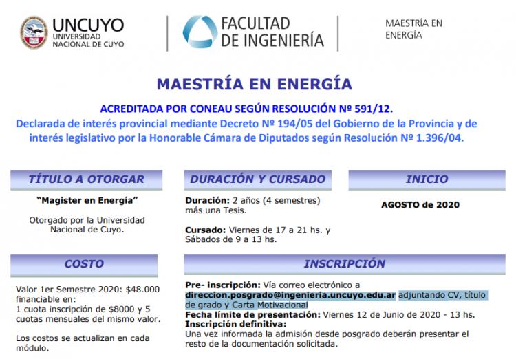 Síntesis Maestría en Energía
