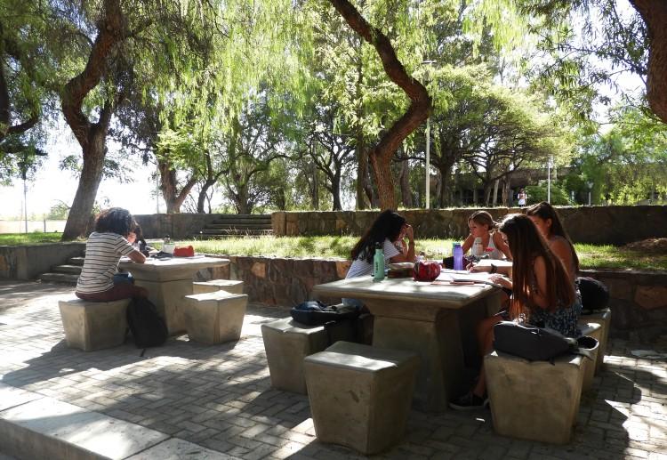 Se trabaja en la puesta en valor de los jardines de la Facultad