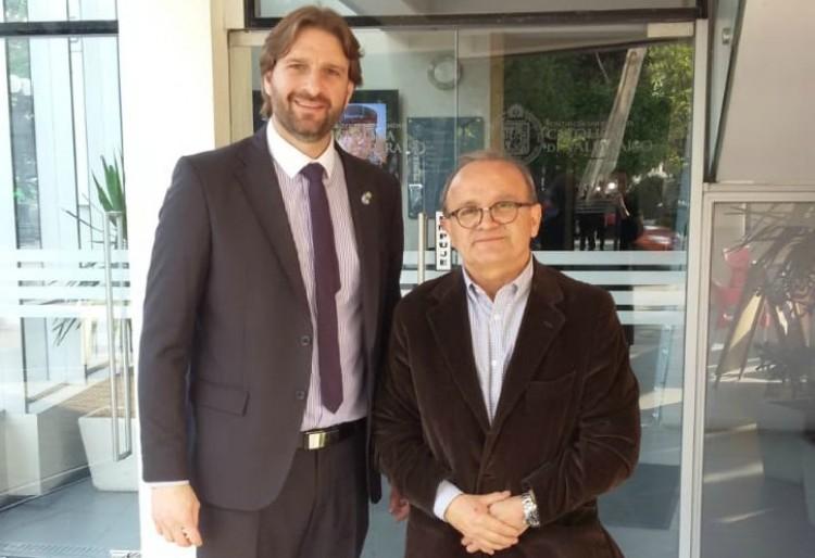 El Director de Ingeniería Industrial se reunió con autoridades de Universidad de Chile