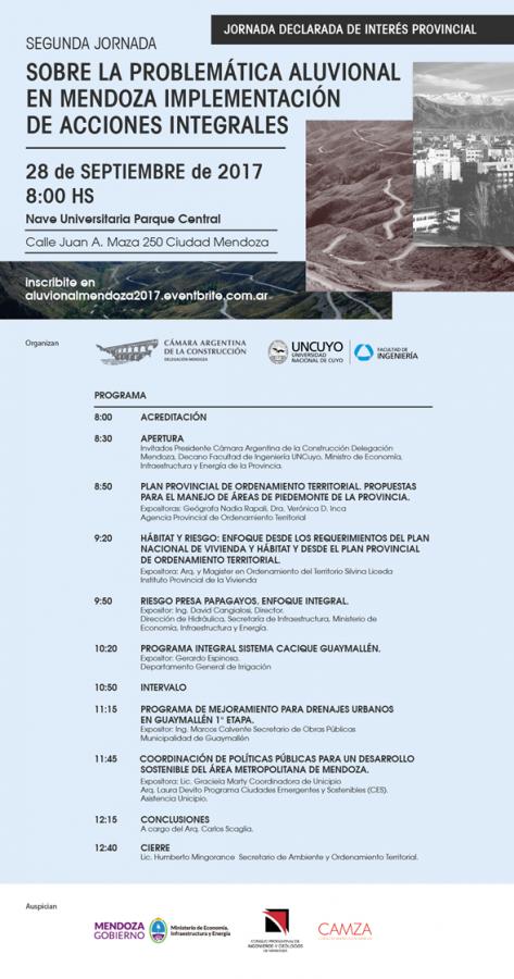 Segunda Jornada sobre la Problemática Aluvional de Mendoza