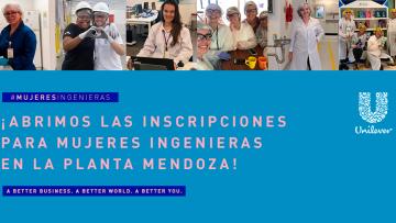 Invitan a participar de la jornada de Mujeres Ingenieras de Unilever