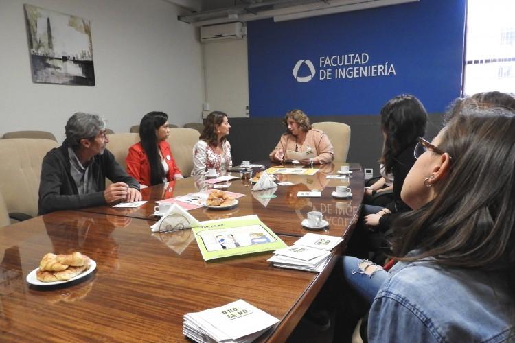 """La Vicedecana se reunió con integrantes de la campaña """"No es No"""""""