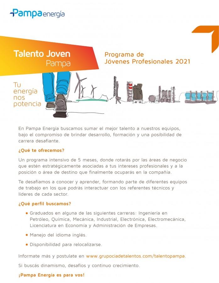 Programa de Jóvenes Profesionales de Pampa Energía